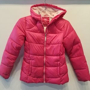 Wonder Nation Puffy Pink Girl's Winter Jacket XL